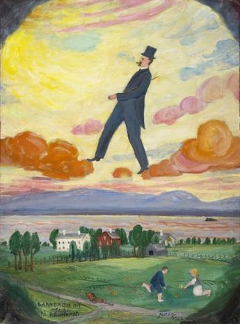 Paul Jonze: Barndröm om Gud på promenad. Olja. 1922.