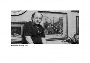 """""""Blomstermålaren Herbert Carlsson"""", 1987"""